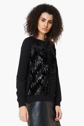 Image result for MAX Sequined Full Sleeves Sweatshirt