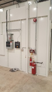 Fire suppression system installed for paint booths.