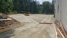Rear driveway formed and (almost) ready for pour