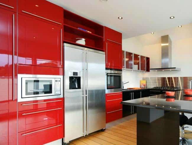 Πολύχρωμες κουζίνες. Προσθέσετε ζωντάνια στο σπίτι.