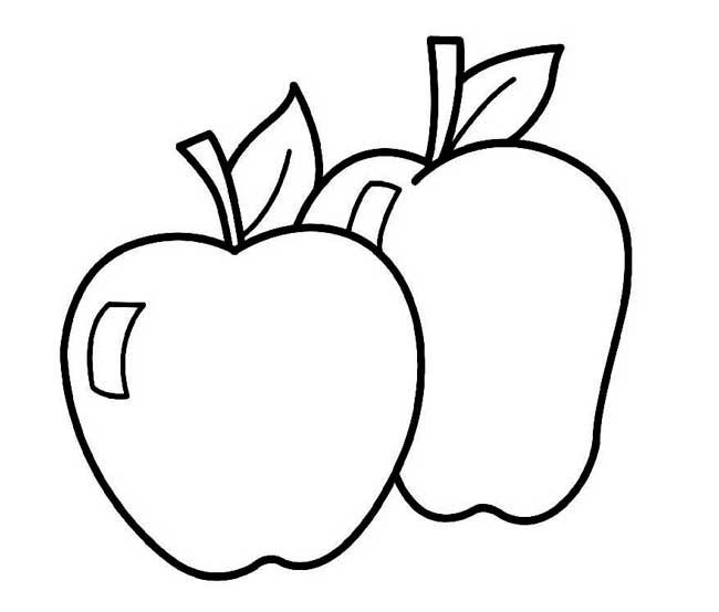 Dibujos De Manzana Para Colorear E Imprimir