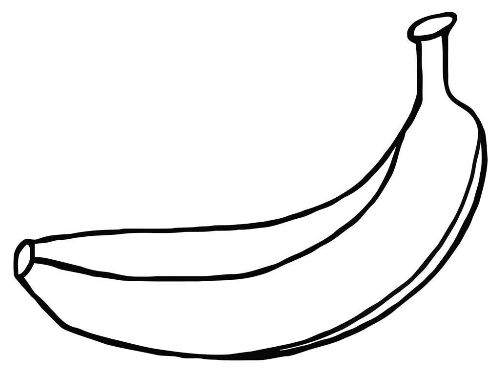 Dibujo De Un Pltano Imgenes Para Pintar Con Nios
