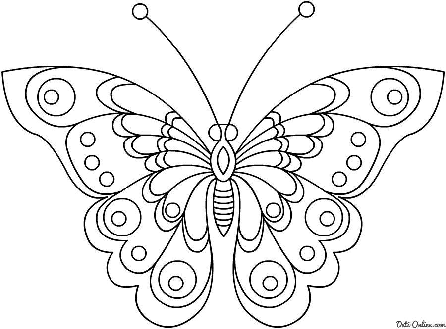 Dibujos De Mariposas Para Colorear Para Nios