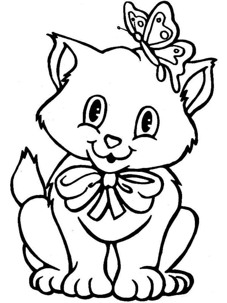 Dibujos de gatos bonitos para colorear