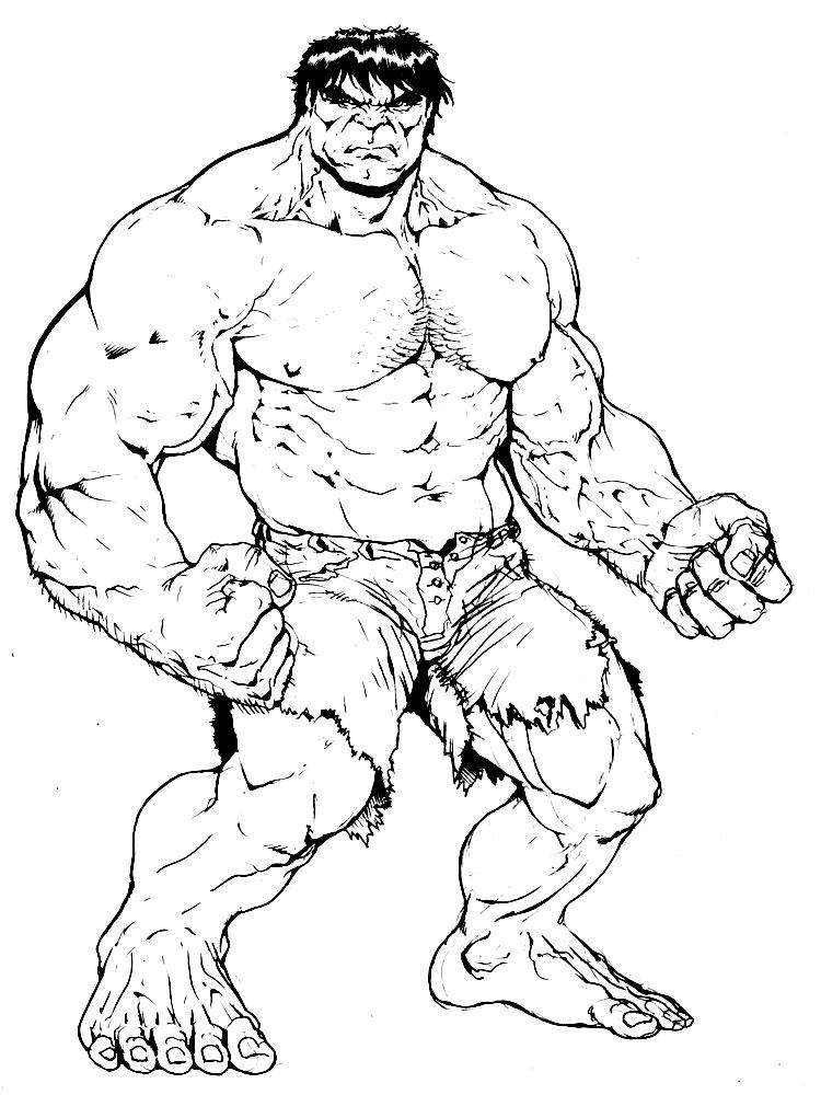 Dibujos de hulk para colorear e imprimir