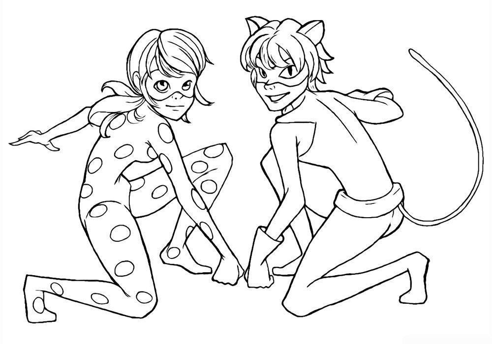 Cat Noir Y Ladybug Dibujos Para Colorear