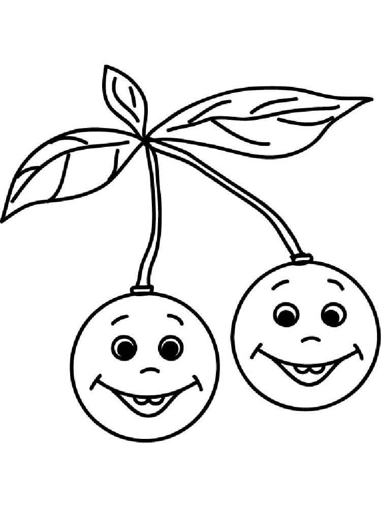 Dibujos cerezas infantiles