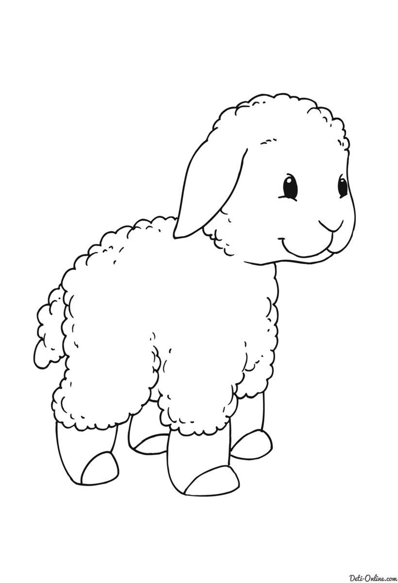 Dibujos para colorear de ovejas tiernas