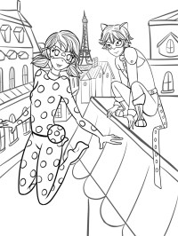 Coloring Download Miraculous Ladybug Coloring Pages Cat