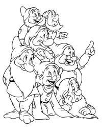 Dibujos Disney Para Colorear Blancanieves Y Los 7 Enanitos