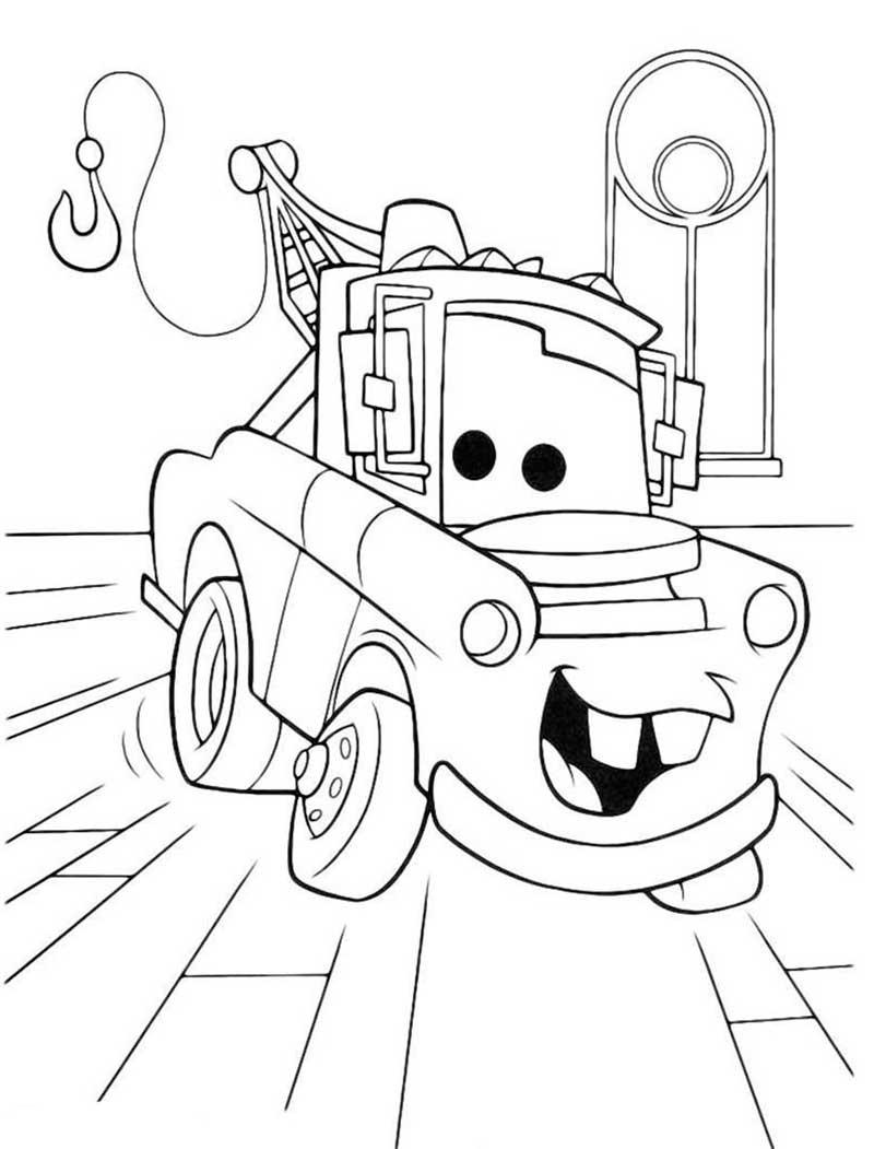Dibujo Mate Cars Para Colorear