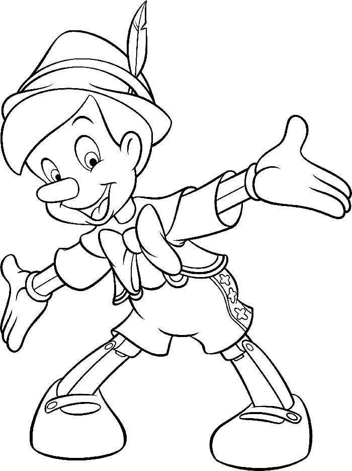 Dibujos De Pinocho Para Colorear