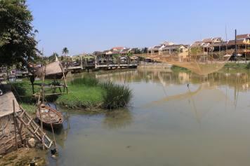 La rIvière Thu Bon traversant Hoi AN