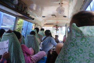 le bus quand il n'était pas encore trop rempli...