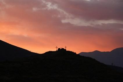 petit coucher de soleil à Cabanaconde