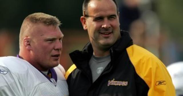 mike tice and brock lesnar