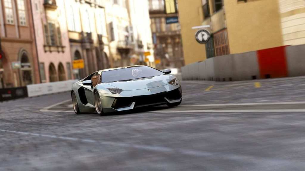 lamborghini on street