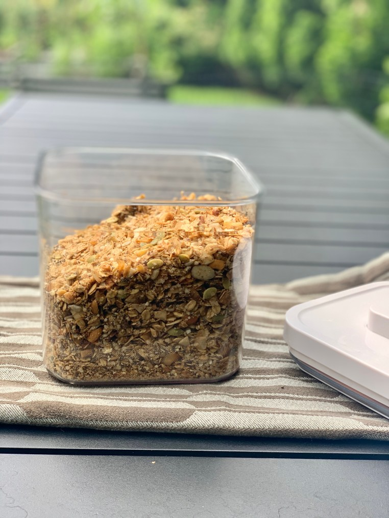 how to store the granola after it is made