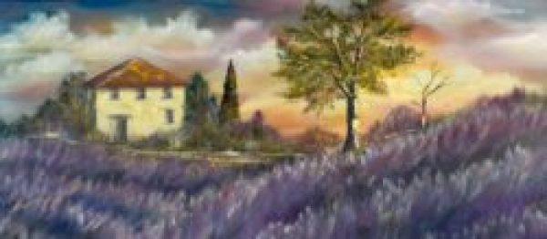 Lavender Fields by Rita Long Art