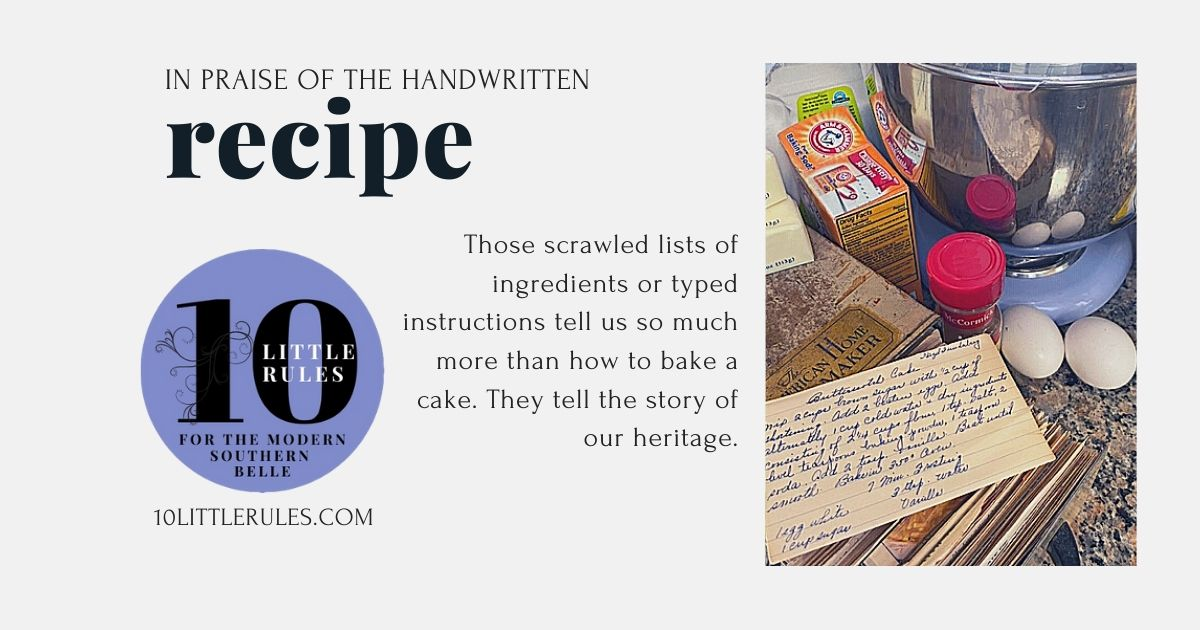 in praise of the handwritten recipe