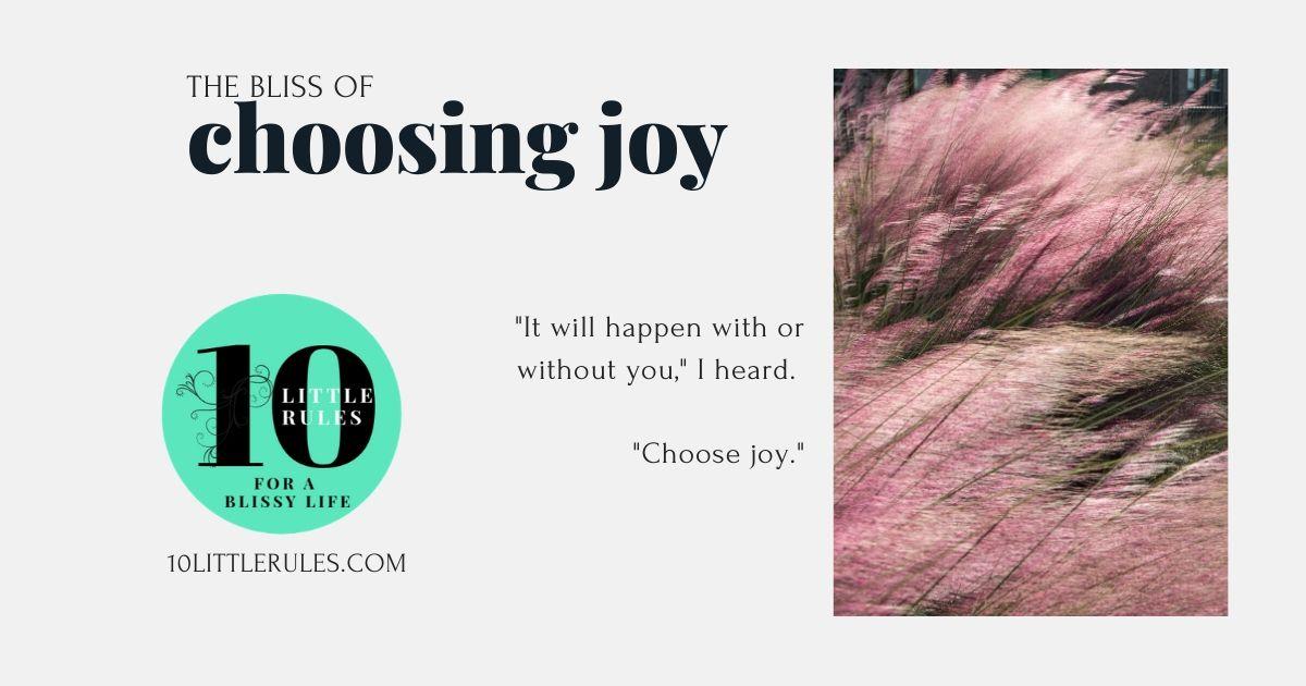 the bliss of choosing joy