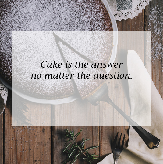 I'll Take The Cake, Please!