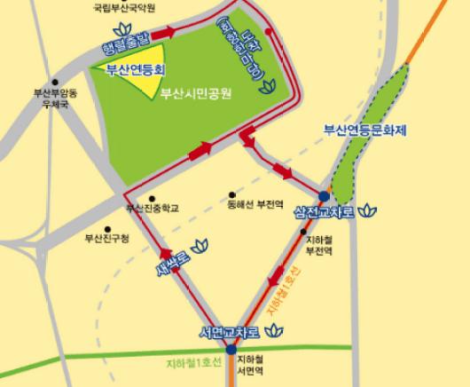 busan lotus lantern festival 2019 parade pathway