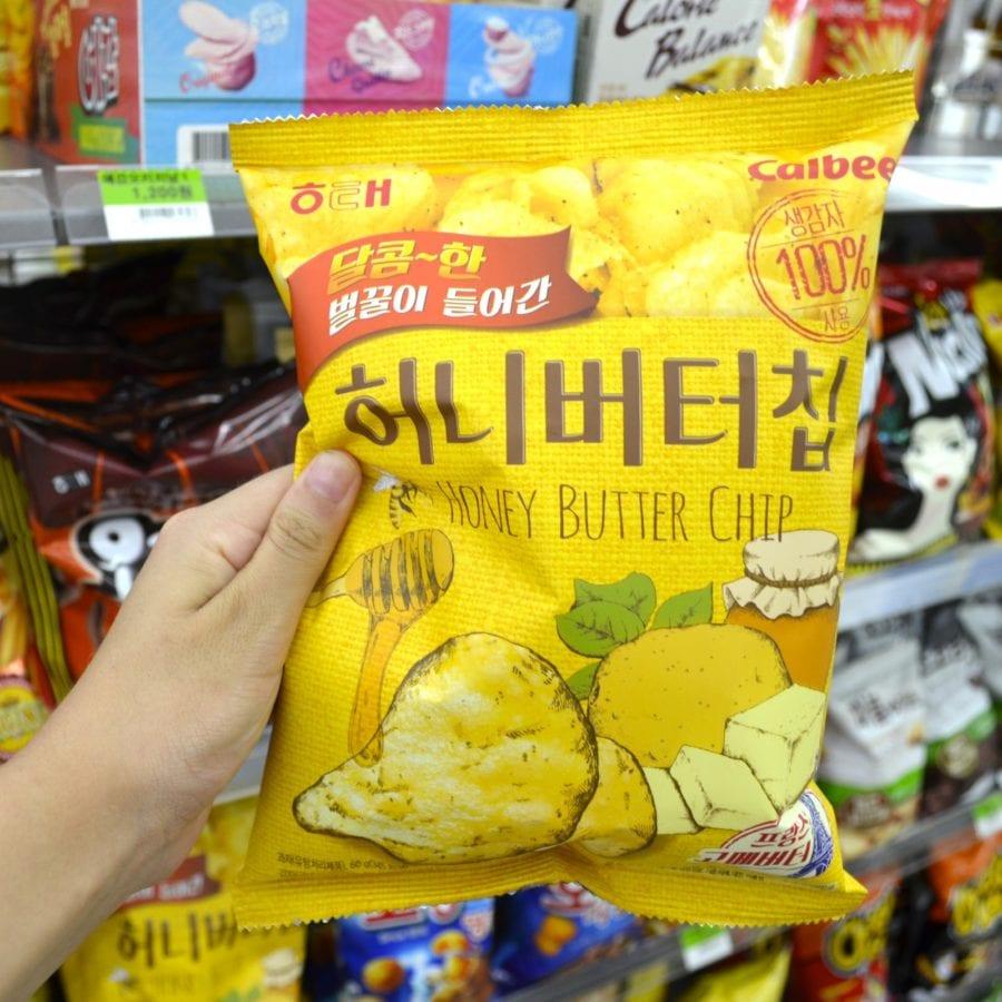 korean convenience stores honey butter chips