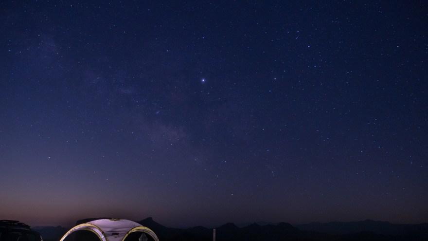 内山牧場キャンプ場 星 天の川