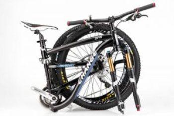Folded folding bike