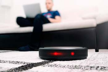 Image of a robot vacuum cleaner with WiFi