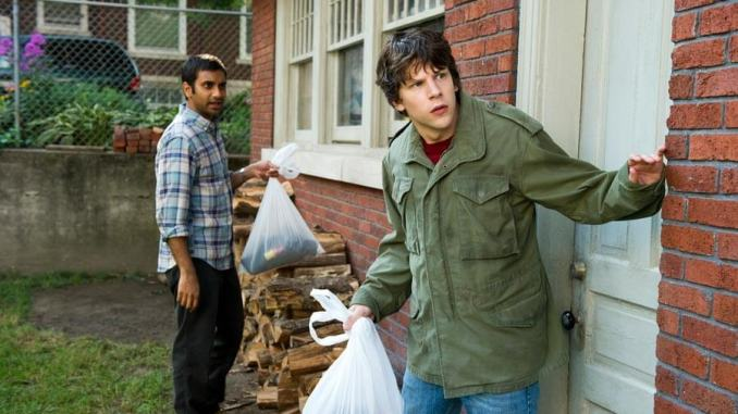 Jesse Eisenberg and Aziz Ansari in 30 Minutes or Less