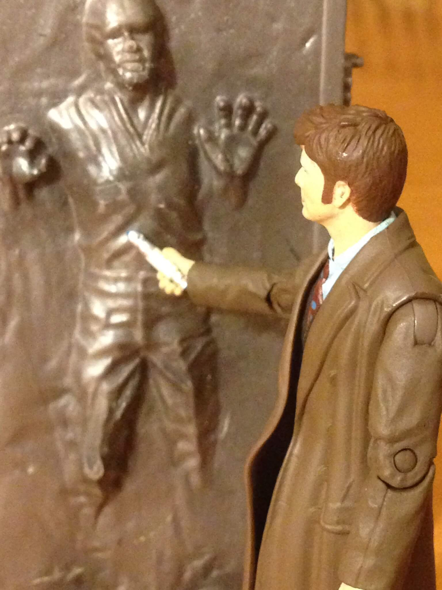 The Doctor finds Han Solo frozen in Carbonite