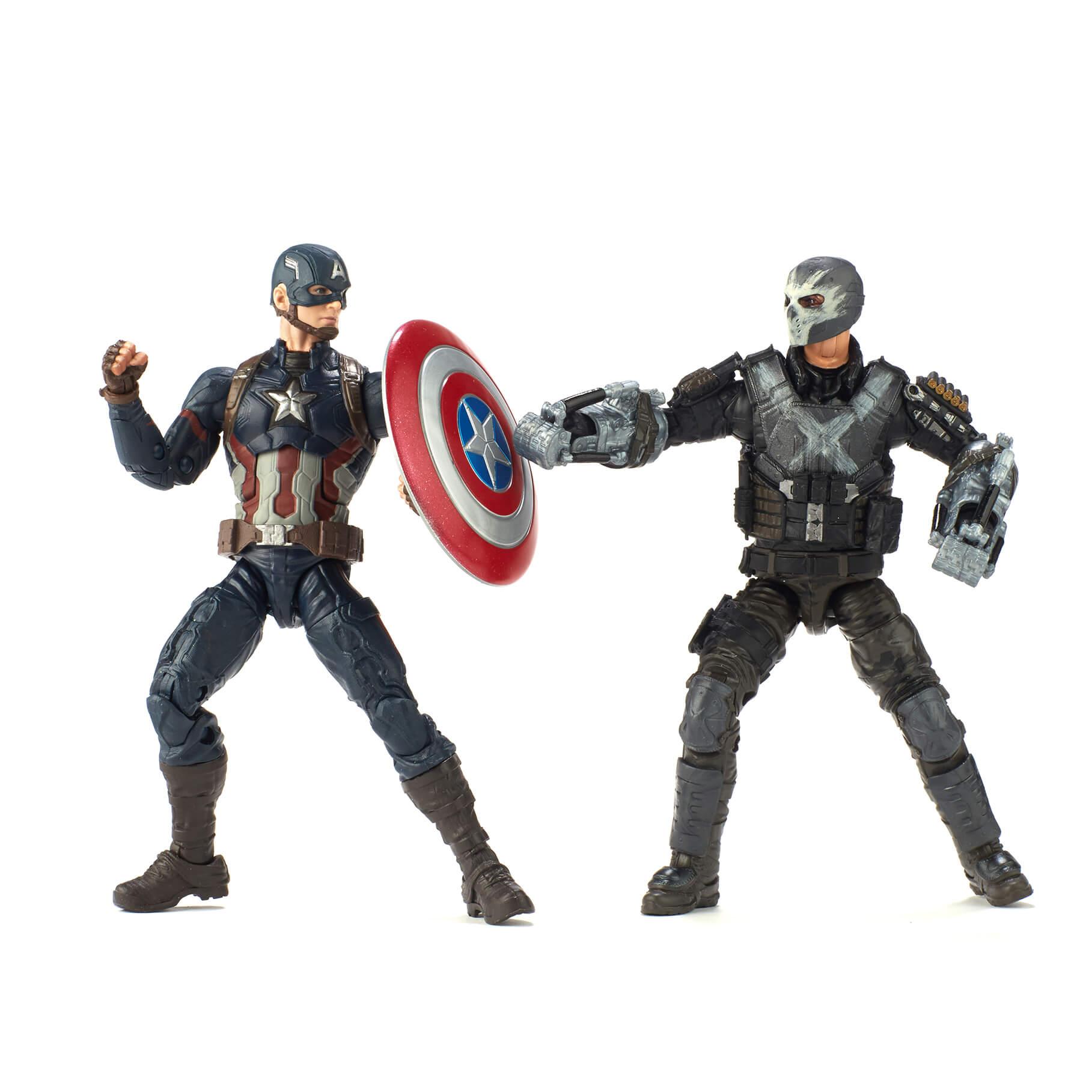 Hasbro 2018 MCU Civil War Captain America and Crossbones 2 pack