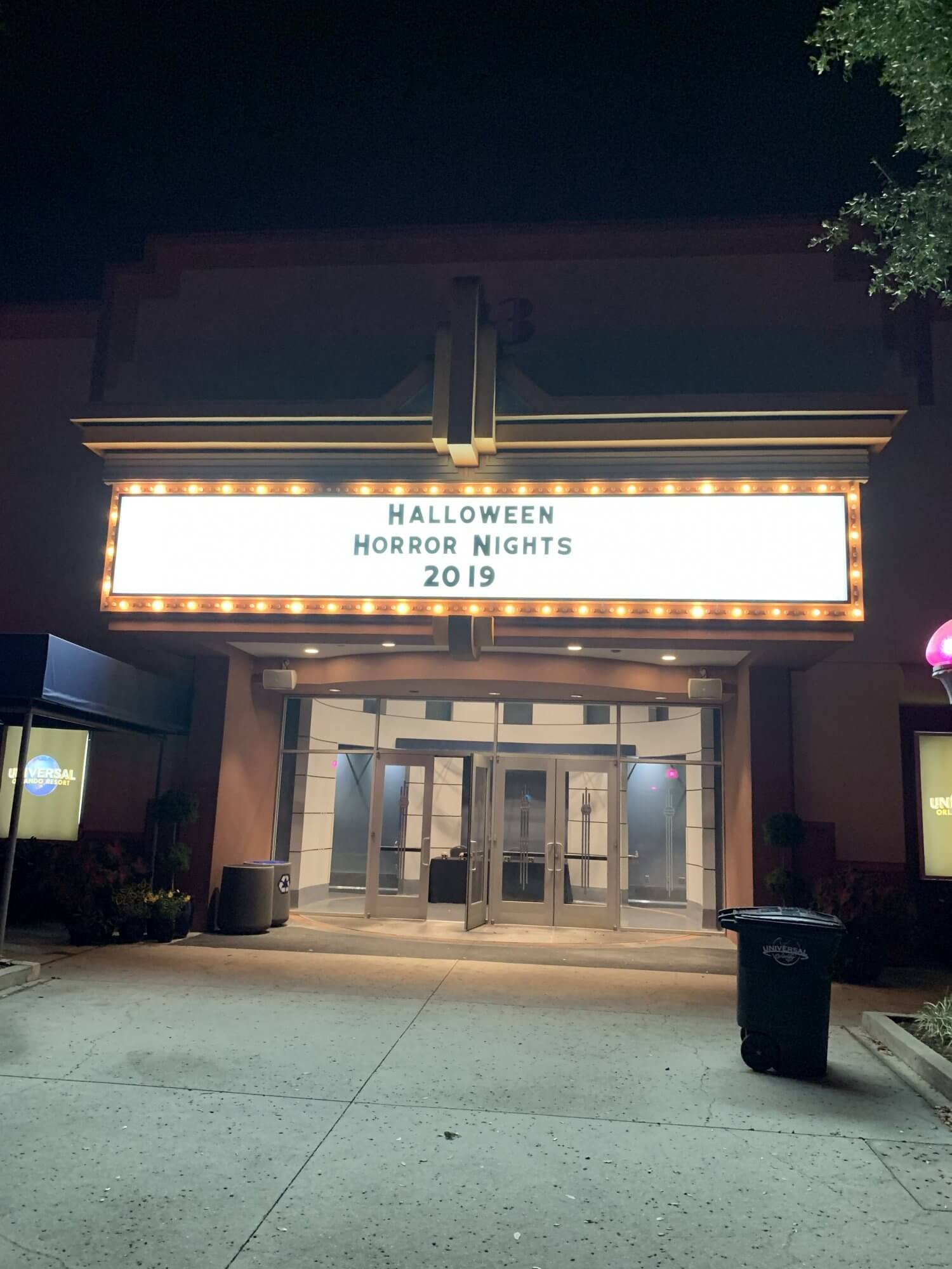 Universal Halloween Horror Nights 2019 HHN29 Theater Marquee