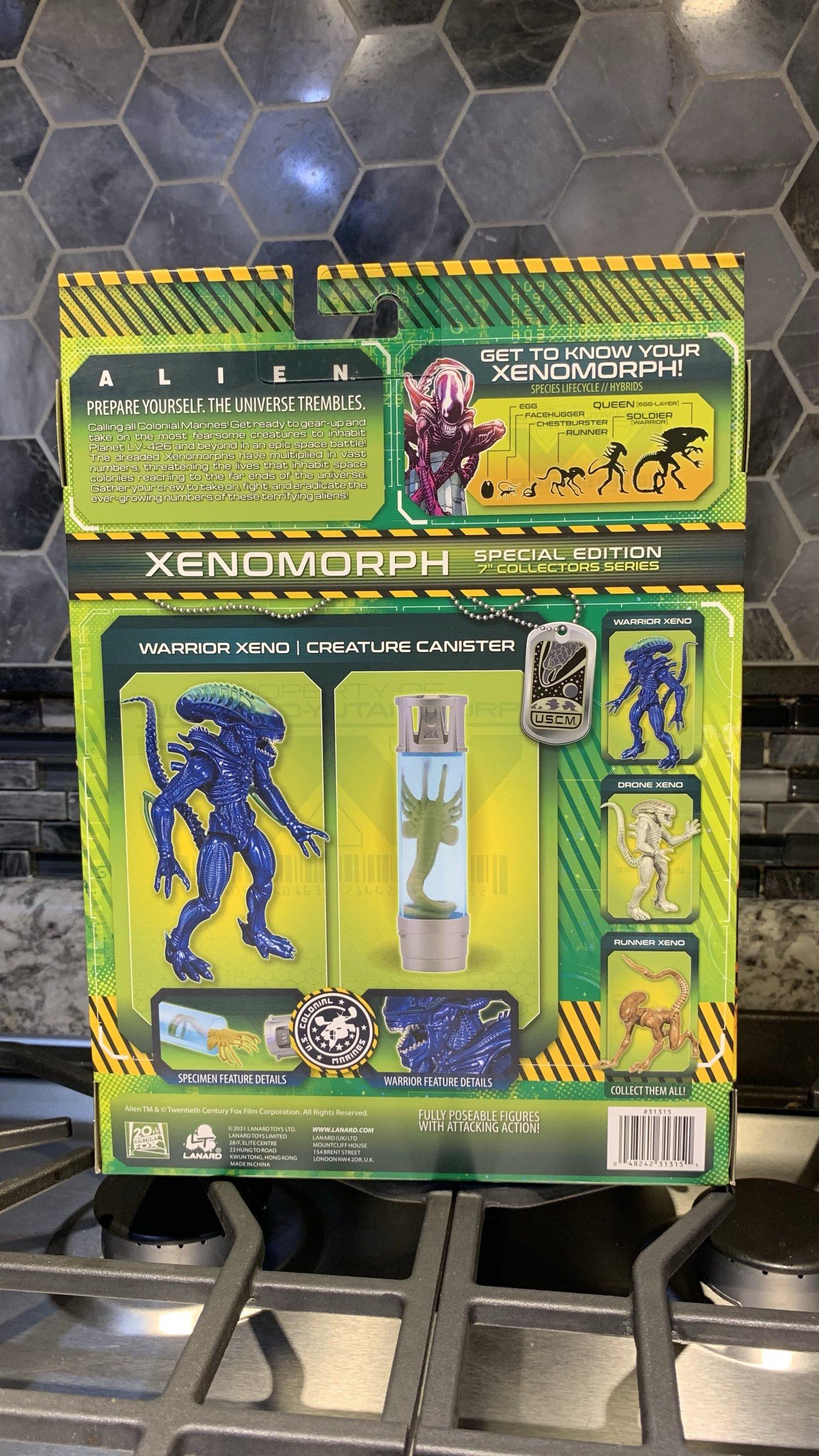 Lanard Toys Alien Warrior Xeno Packaging back