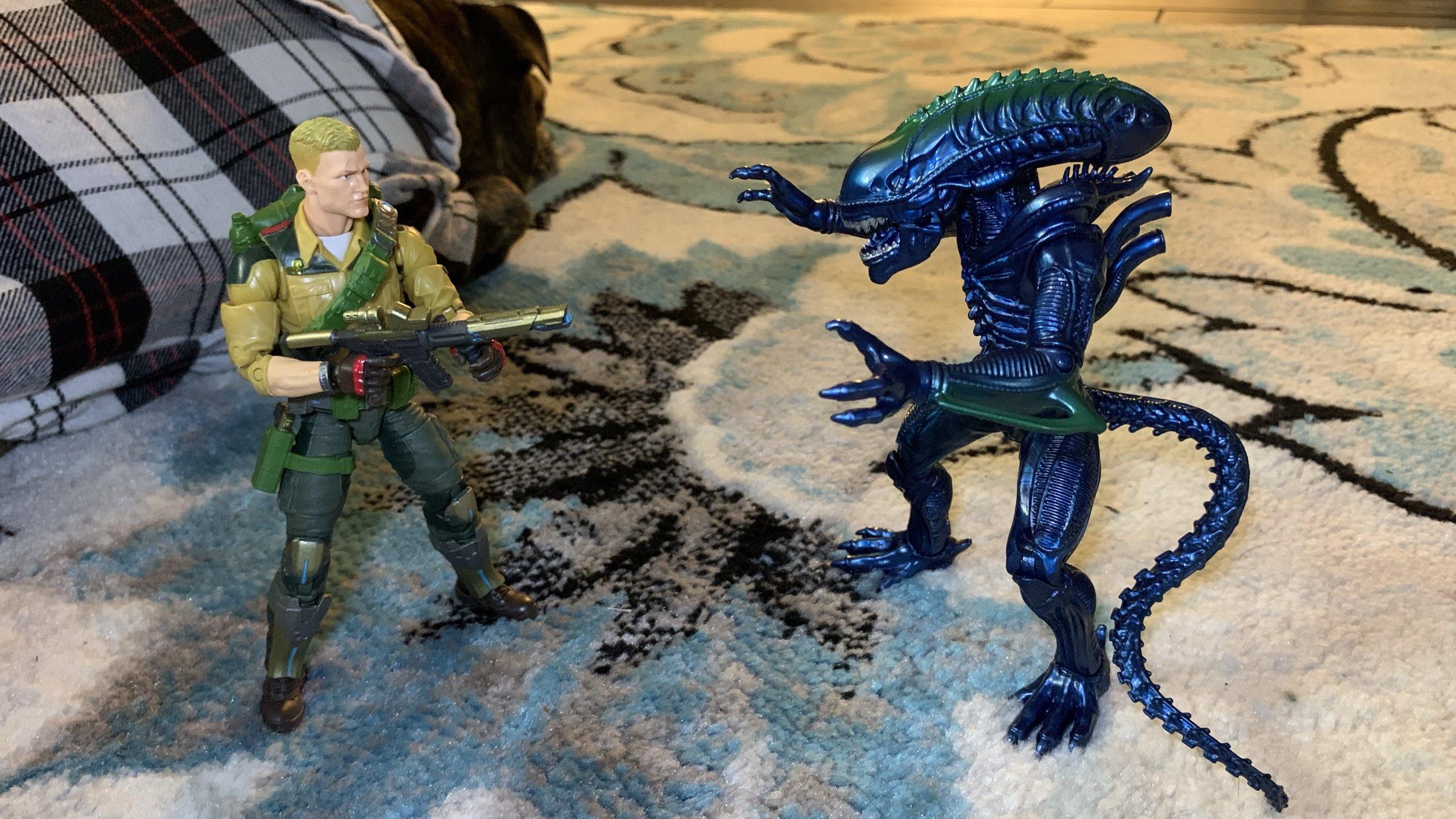 Lanard Toys Alien Warrior Xeno and Hasbro G.I. Joe Classified Duke