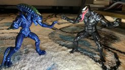 Lanard Toys Alien Warrior Xeno and Hasbro Marvel Legends Venom