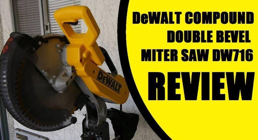 DEWALT DW716 15 Amp 12-Inch Double-Bevel Compound Miter Saw