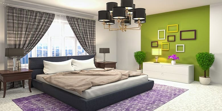 Light Green with White - Bedroom Color Combos