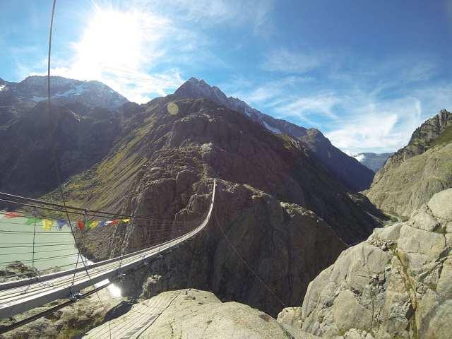 Scariest Rope Bridges In The World: Trift Bridge, Switzerland