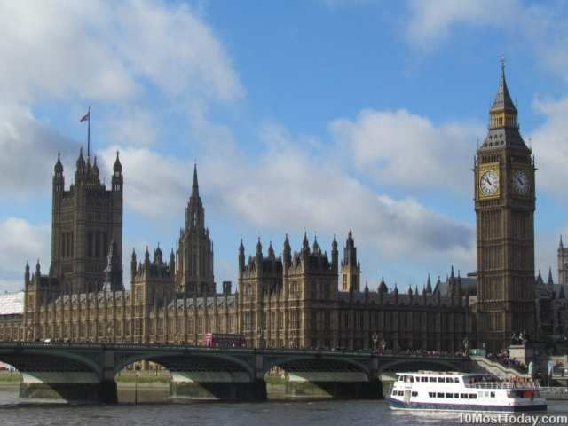 Most Beautiful Parliament Buildings: The Palace of Westminster