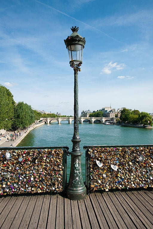 Awesome Love Locks Locations: Pont des Arts Bridge, Paris