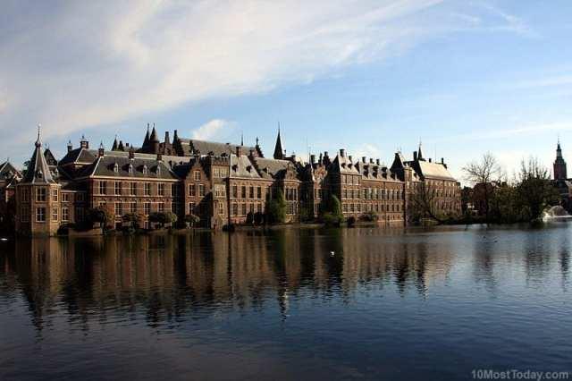 Most Beautiful Parliament Buildings:  Binnenhof, The Hague