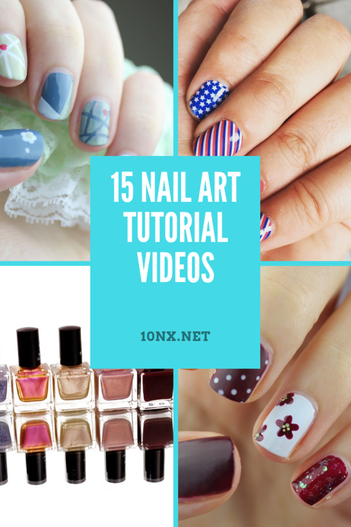 15 nail art tutorial videos