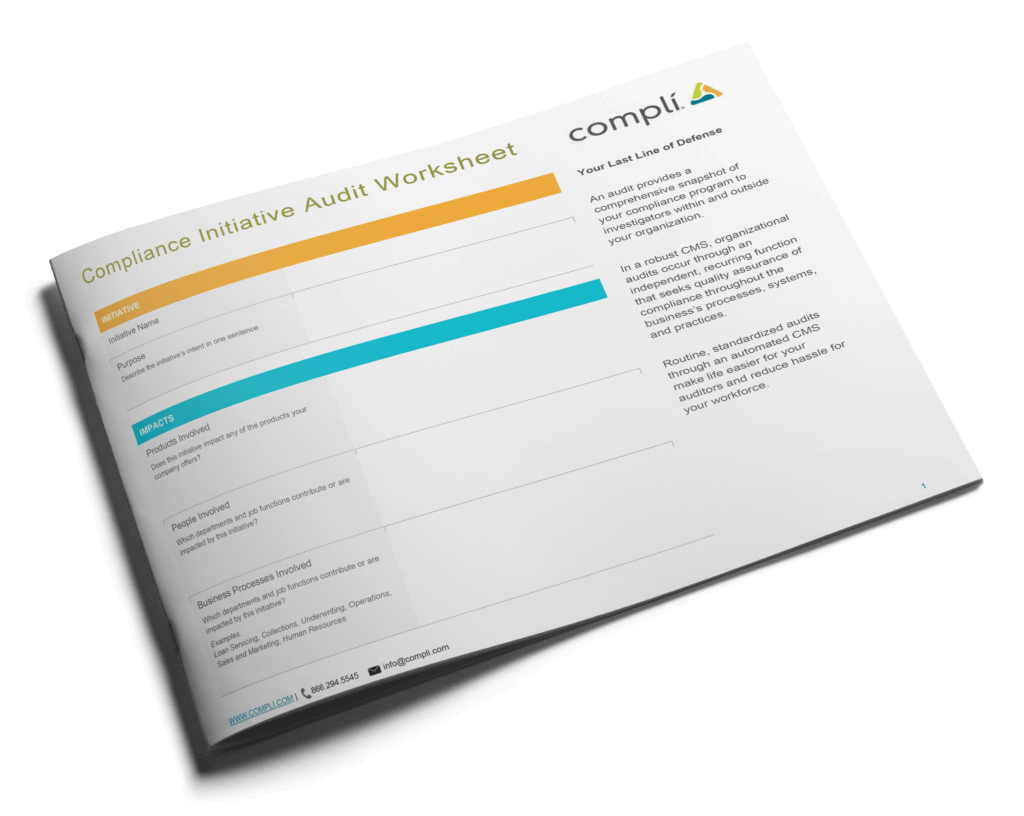 Tools You Can Use Audit Compliance Initiative Worksheet
