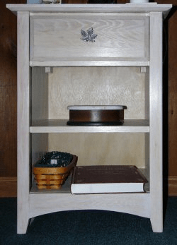 Simple Wooden Entertainment Center with Lots of Shelves