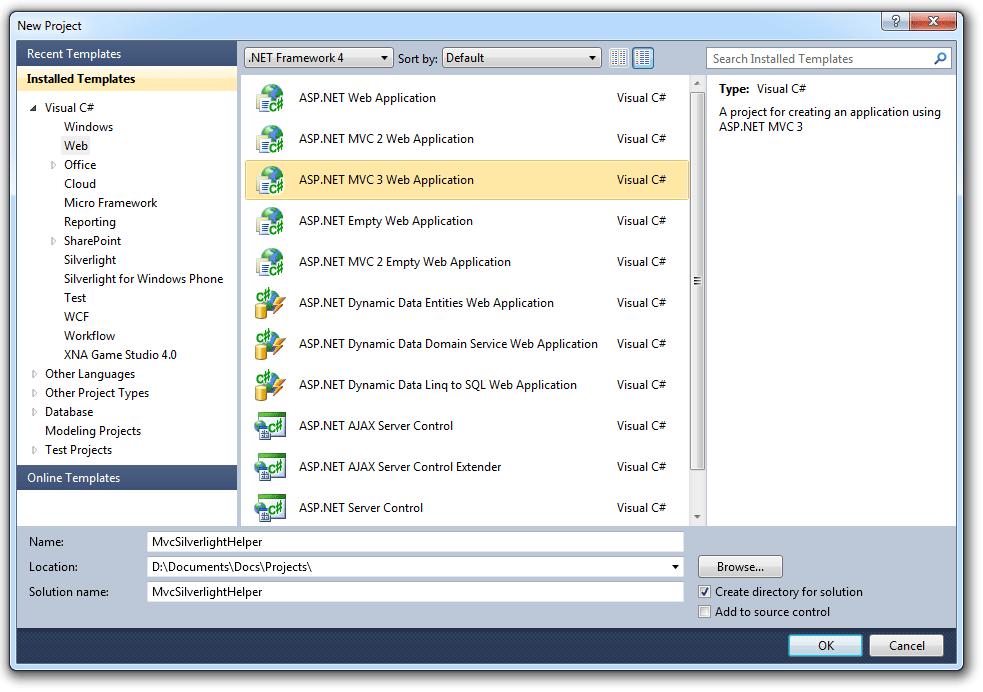 Creating a Silverlight 5 Helper for ASP.NET MVC3 Razor - Pete Brown's 10rem.net