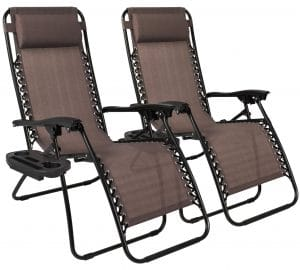 Best Choice Products Set of 2 Adjustable Zero Gravity Lounge Chair review