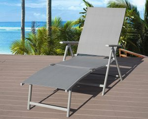 Kozyard Cozy Aluminum Beach Yard Pool Folding Reclining Adjustable Chaise Lounge Chair review